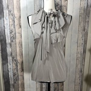 Banana Republic Waterfall Ruffle Tie Neck Blouse M